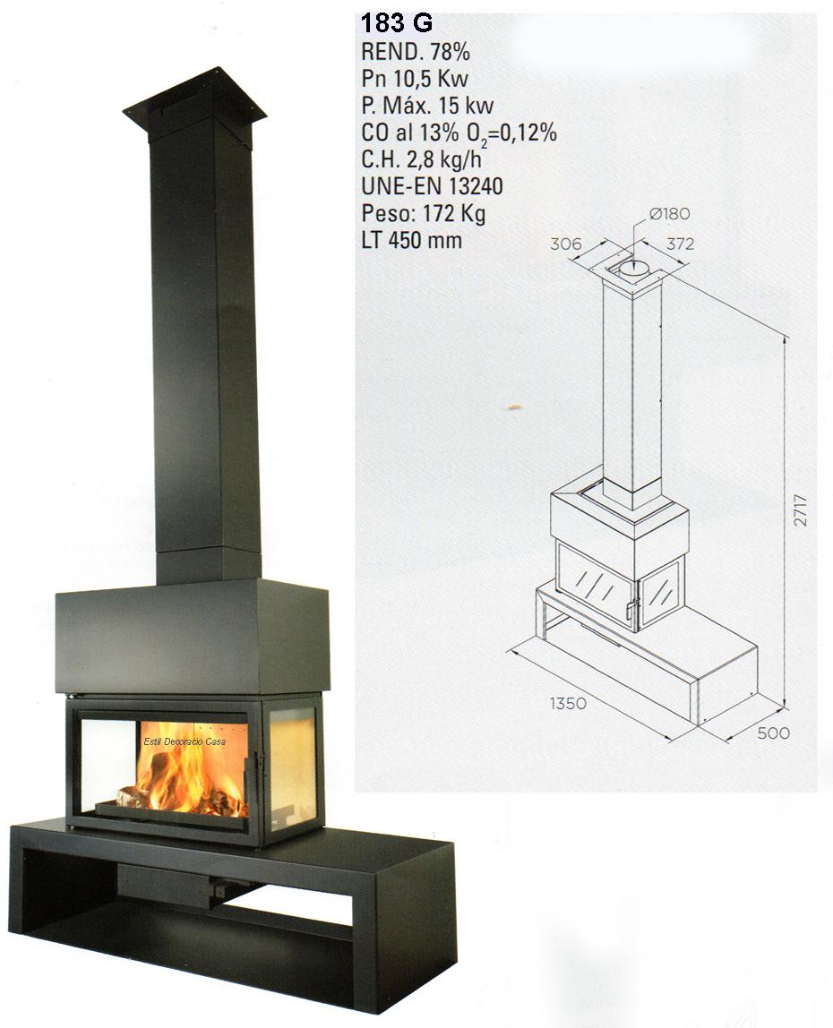 cheminée face LL15E
