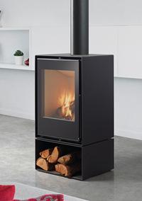 cheminée face flammes hauteur Habit50V