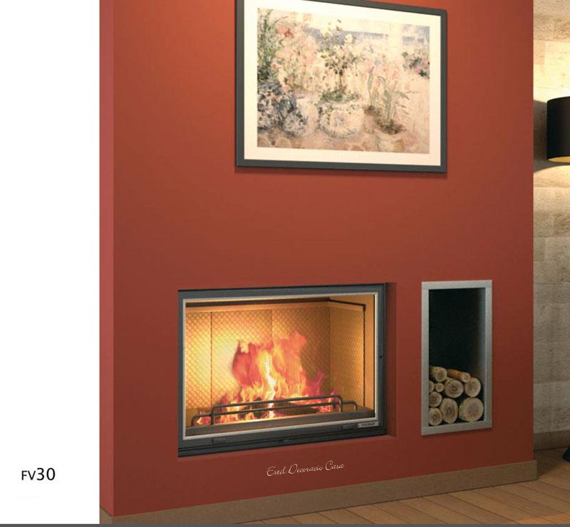 Superbes inserts foyer ouvert ou ferm gr ce sa vitre coullisante - Habillage pour insert ...