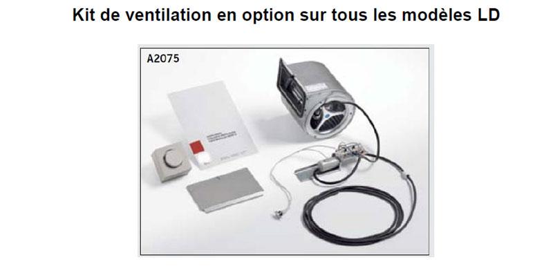 kit ventilation pour insert