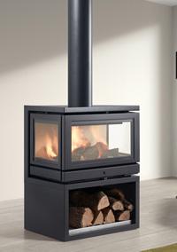 cheminee centrale 3 faces. Black Bedroom Furniture Sets. Home Design Ideas
